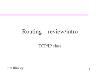 Routing – review/intro