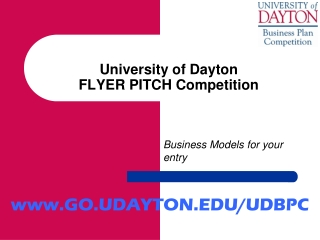 University of Dayton FLYER PITCH Competition