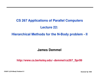 James Demmel cs.berkeley/~demmel/cs267_Spr99