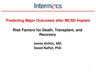 Predicting Major Outcomes after MCSD Implant