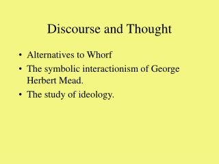 Discourse and Thought