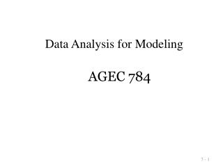 AGEC 784