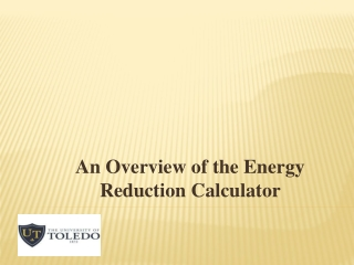 An Overview of the Energy Reduction Calculator