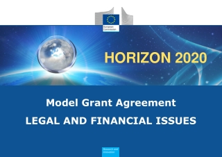 Model Grant Agreement LEGAL AND FINANCIAL ISSUES