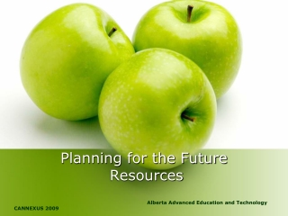 Planning for the Future  Resources