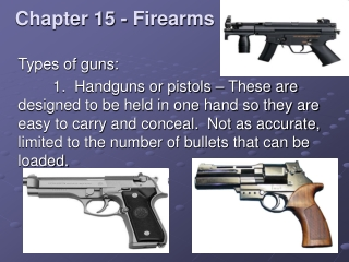 Chapter 15 - Firearms