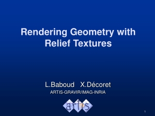 Rendering Geometry with Relief Textures