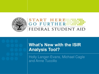 What's New with the ISIR Analysis Tool?
