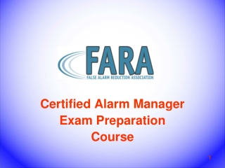 Certified Alarm Manager  Exam Preparation Course