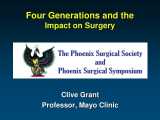 Four Generations and the Impact on Surgery