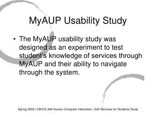 MyAUP Usability Study