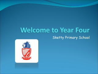 Welcome to Year Four