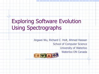 Exploring Software Evolution Using Spectrographs