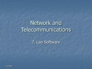 Network and Telecommunications