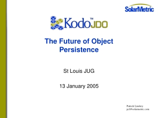 The Future of Object Persistence
