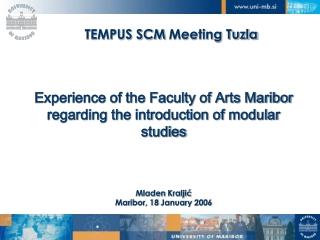 TEMPUS SCM  Meeting Tuzla