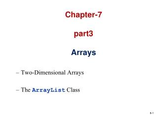Chapter-7 part3 Arrays