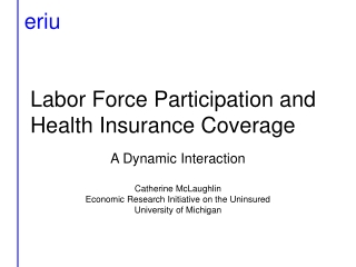 Labor Force Participation and Health Insurance Coverage