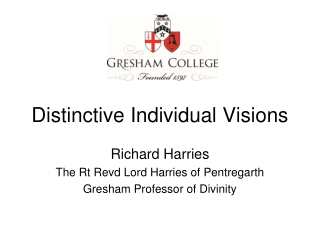 Distinctive Individual Visions