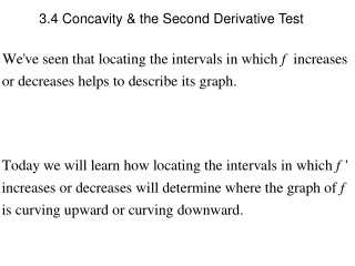 3.4 Concavity & the Second Derivative Test