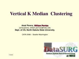 Vertical K Median  Clustering