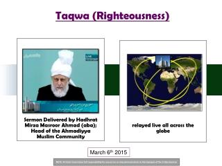 Taqwa (Righteousness)
