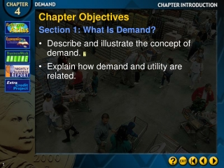 Chapter Objectives Section 1: What Is Demand?