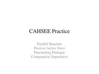 CAHSEE Practice
