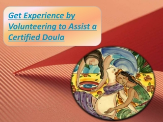 Volunteer as a doula