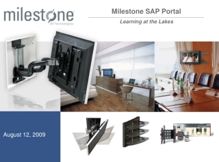 Milestone SAP Portal Learning at the Lakes
