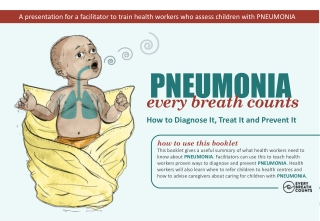 A presentation for a facilitator to train health workers who assess children with PNEUMONIA