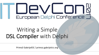 Writing a Simple  DSL Compiler  with Delphi