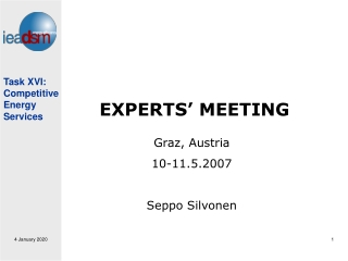 EXPERTS' MEETING