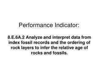 Performance Indicator:
