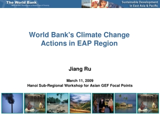 World Bank's Climate Change Actions in EAP Region