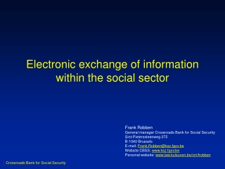Electronic exchange of information within the social sector