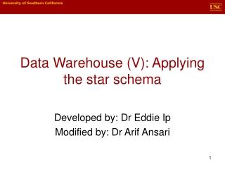 Data Warehouse (V): Applying the star schema