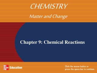 Chapter 9: Chemical Reactions