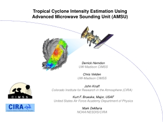 Tropical Cyclone Intensity Estimation Using Advanced Microwave Sounding Unit (AMSU)