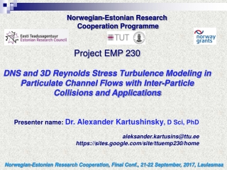 Norwegian-Estonian Research  Cooperation Programme