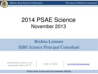 2014 PSAE Science November 2013