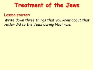 Treatment of the Jews