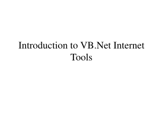 Introduction to VB.Net Internet Tools