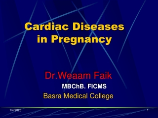 Cardiac Diseases in Pregnancy