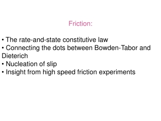 Friction:  The rate-and-state constitutive law