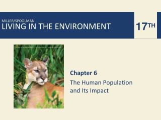 Chapter 6 The Human Population and Its Impact