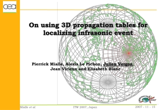 On using 3D propagation tables for localizing infrasonic event