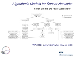 Algorithmic Models for Sensor Networks