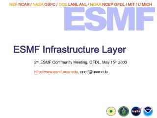 ESMF Infrastructure Layer