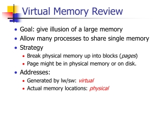 Virtual Memory Review